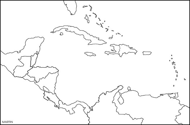 Beautiful Blank Caribbean Map Galleries - Printable Map - New ...
